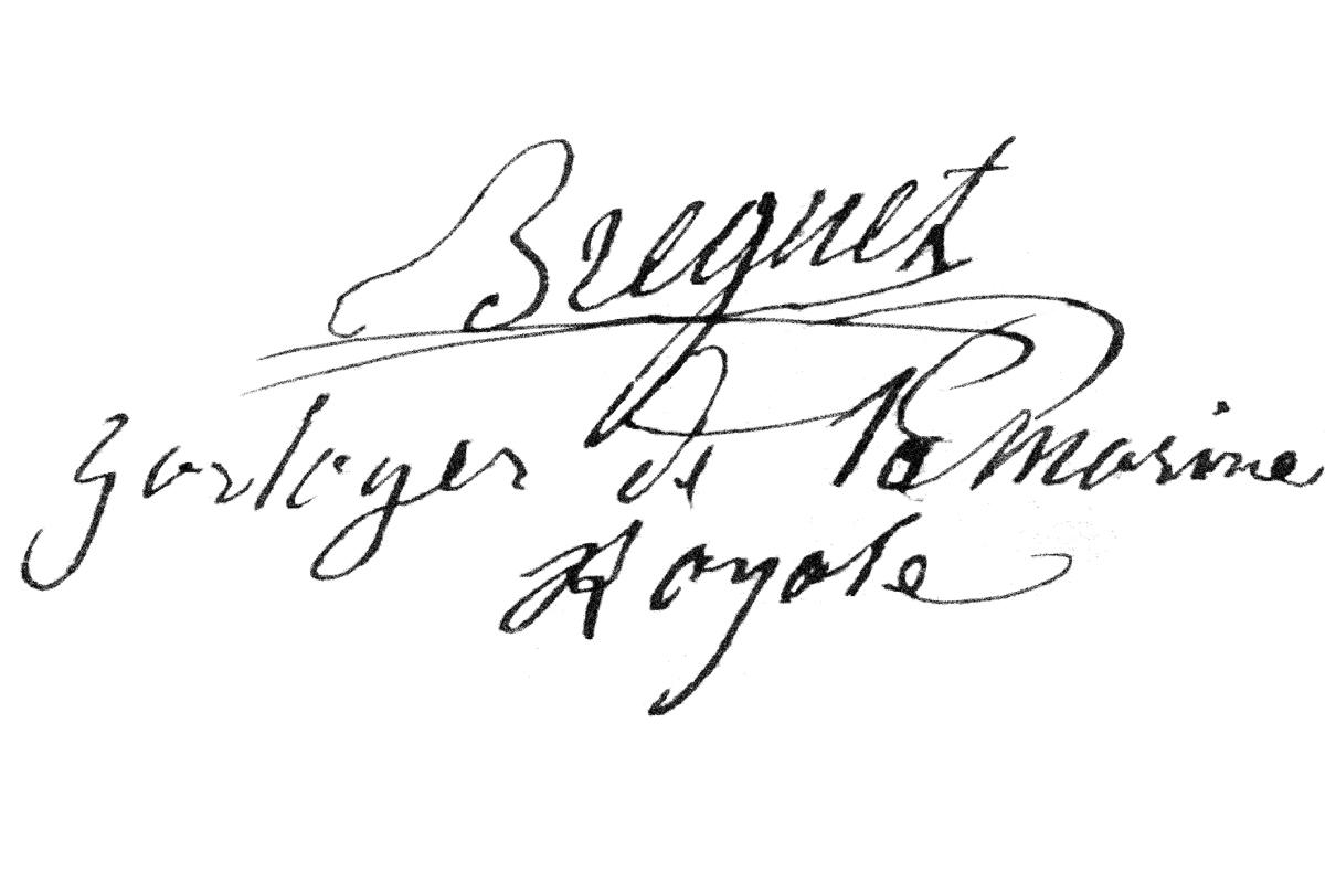 Firma di Breguet, Horloger de la Marine Royale