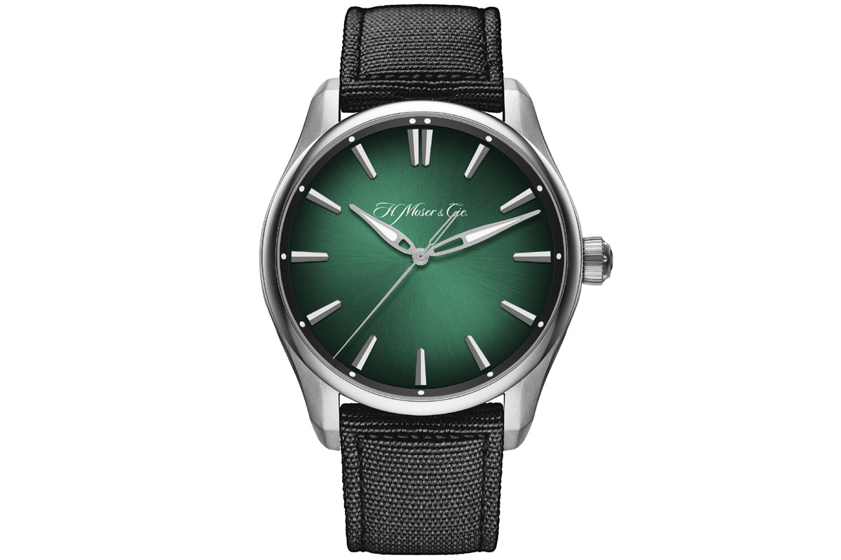 H. MOSER & CIE. Pioneer Centre Seconds Cosmic Green