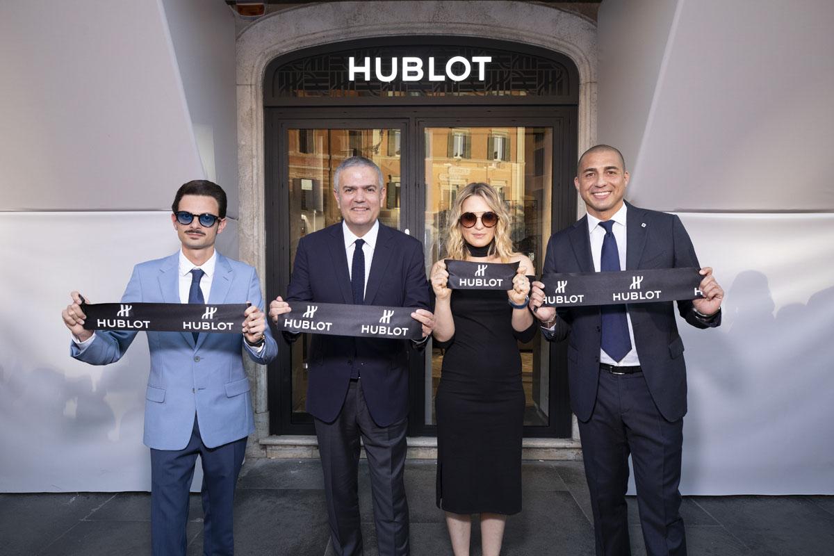 L'apertura della boutique Hublot