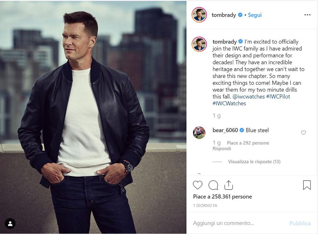 Un post del profilo IG di Tom Brady