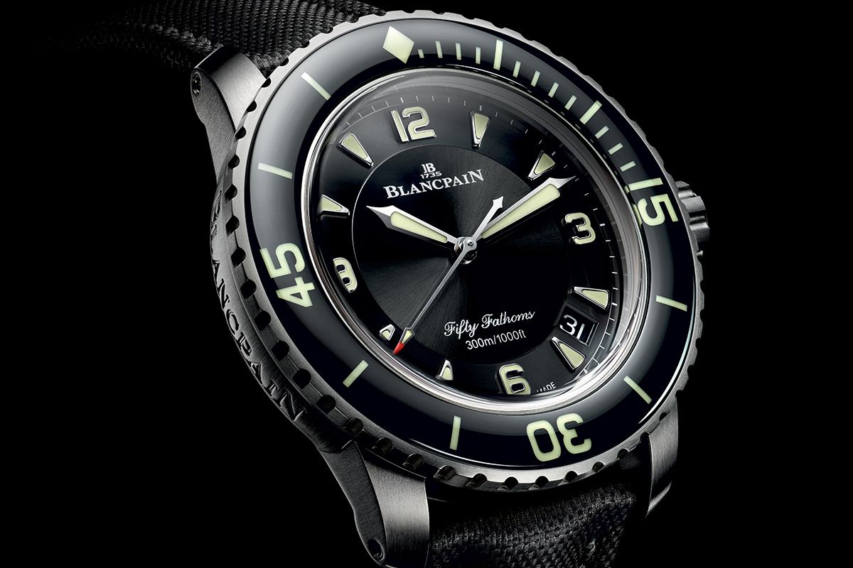 Blancpain Fifty Fathoms in titanio
