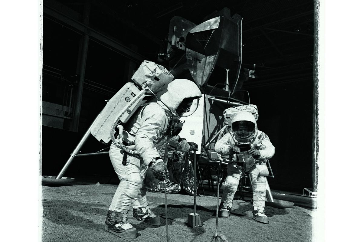 Lo Speedmaster al polso di un astronauta durante una simulazione