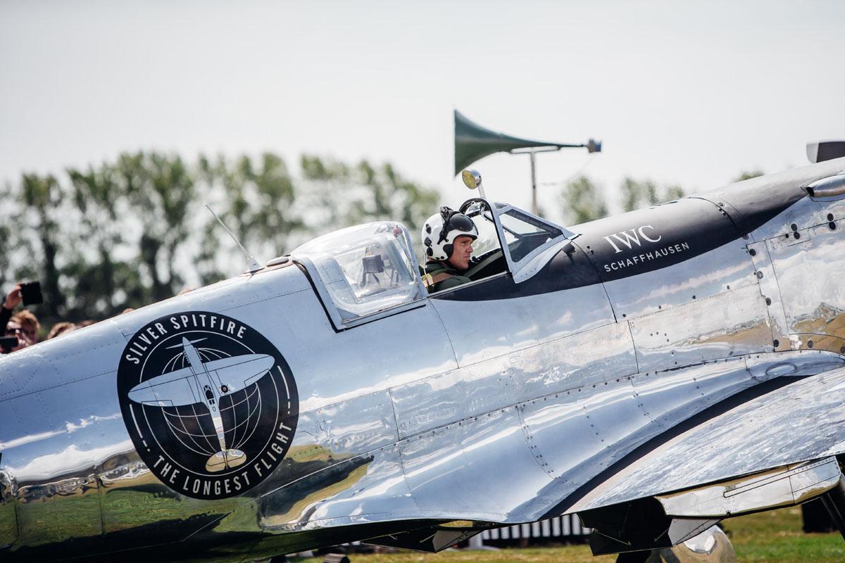Il Silver Spitfire prima del decollo