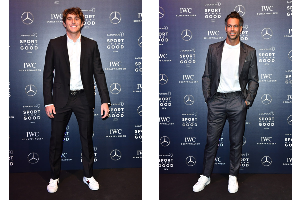 Leonardo Fioravanti e Bruno Cerella alla Laureus F1 Charity Night