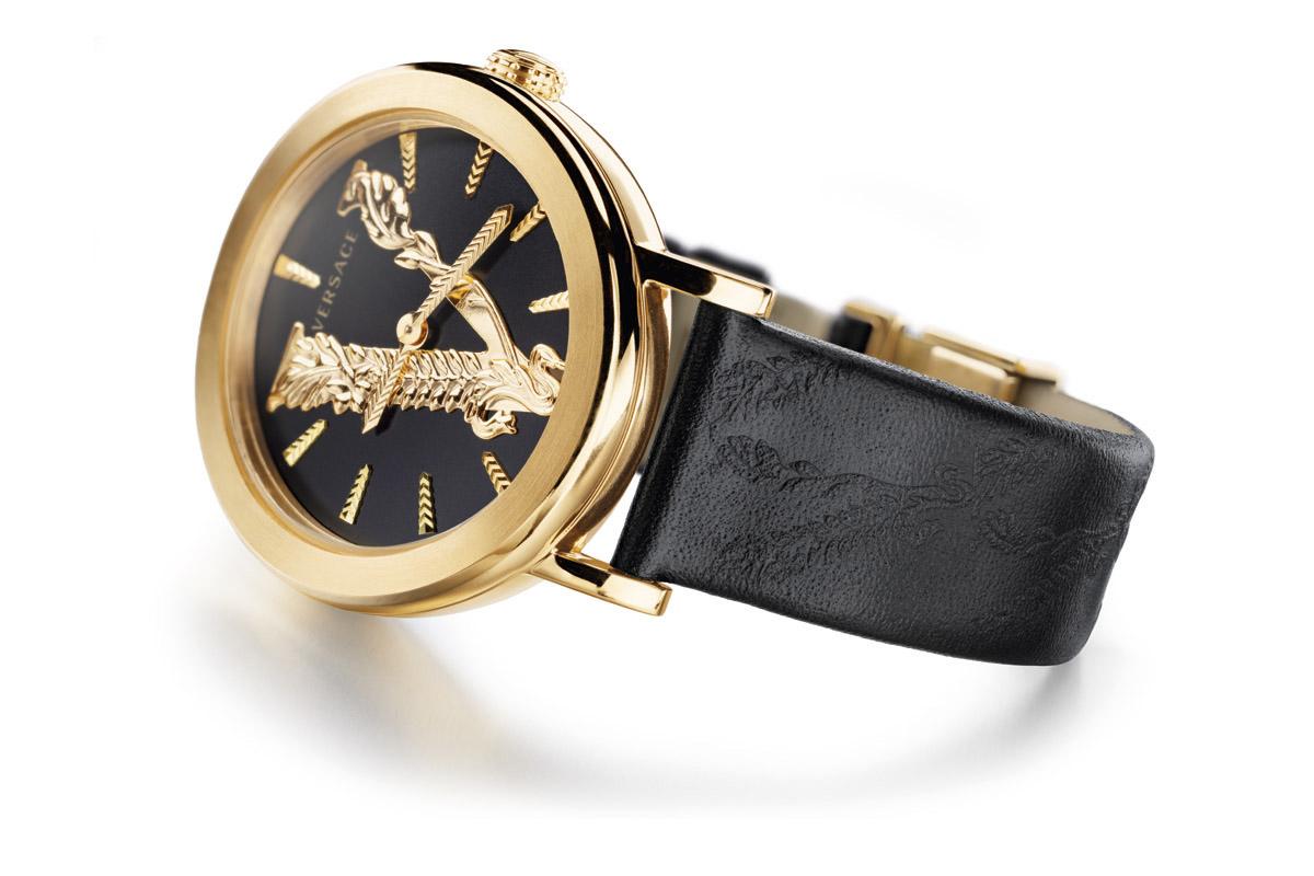 Versace Virtus con cinturino nero
