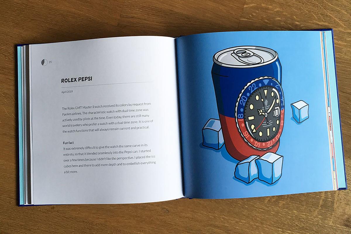 """doppia pagina di """"60 Minutes"""", l'ultimo libro di Watches & Pencils"""
