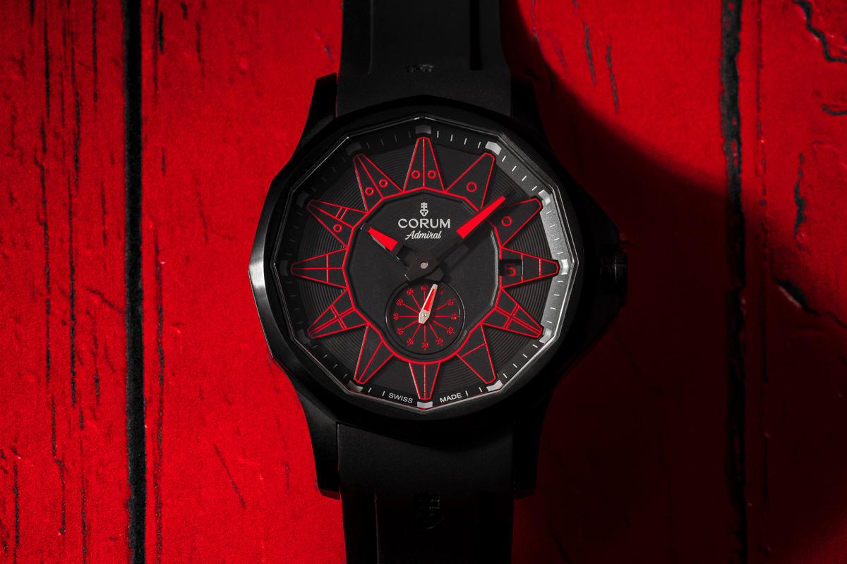 Admiral Legend 42 Automatic All Black in versione rossa