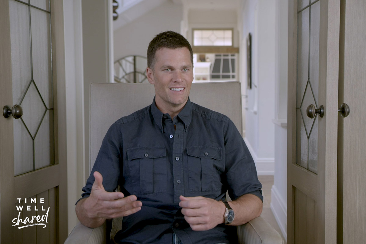 "Tom Brady nel video di ""Time Well Shared"""