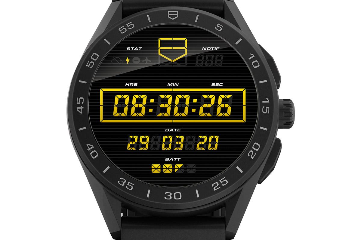 TAG Heuer Connected Watch con cassa in titanio Dlc nero