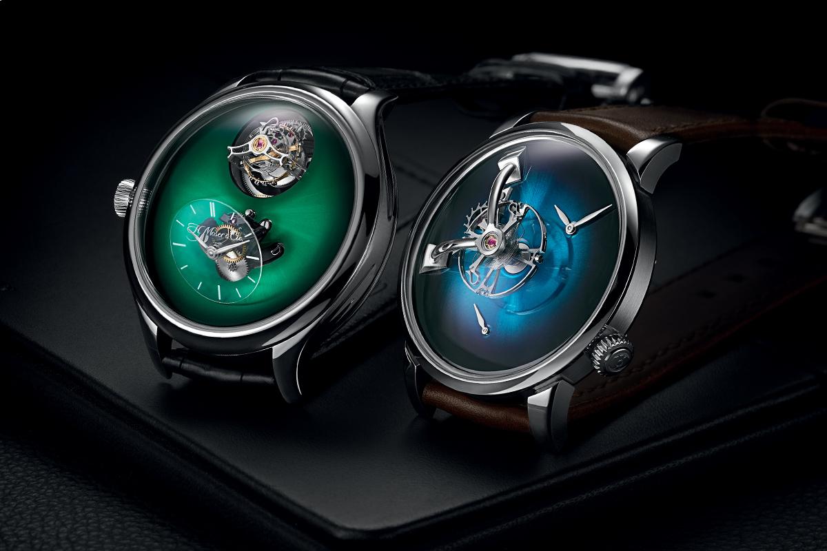 I due orologi frutto della collaborazione fra MB&F e H. Moser & Cie