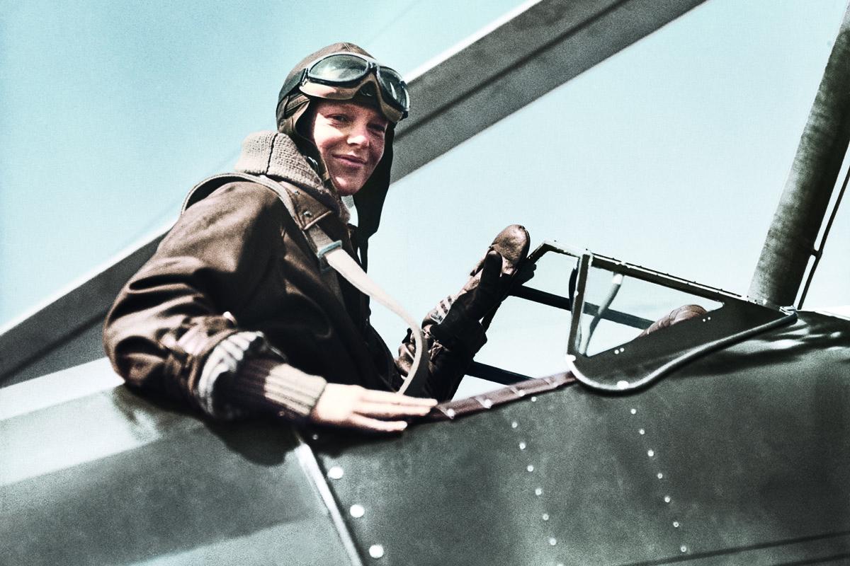 Amelia Earhart nella campagna Longines Spirit