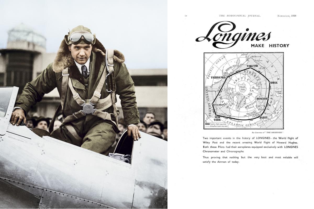 Howard Hughes nella campagna Longines Spirit.