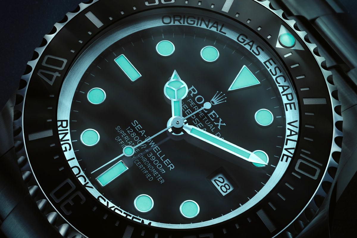 Tra i materiali luminescenti di oggi c'è il Rolex Chromalight