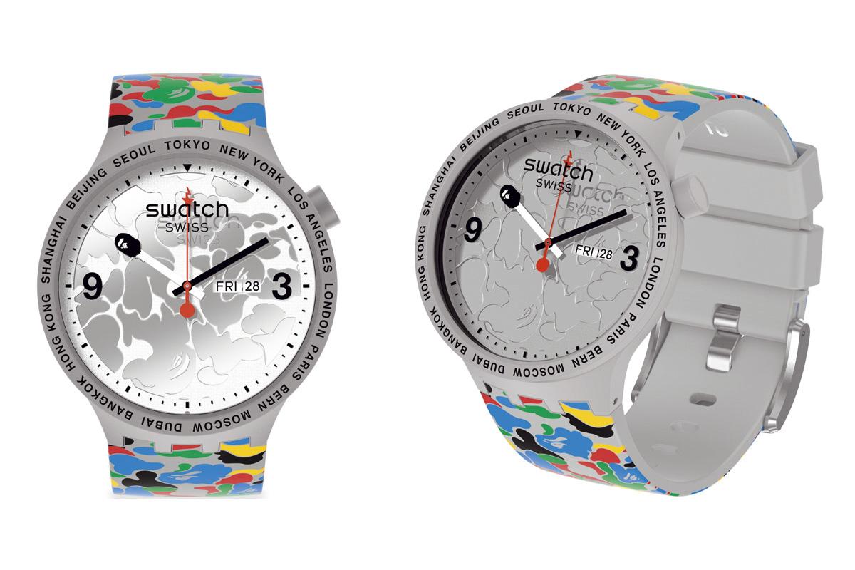 Swatch x Bape Tokyo Grey Multi Camo