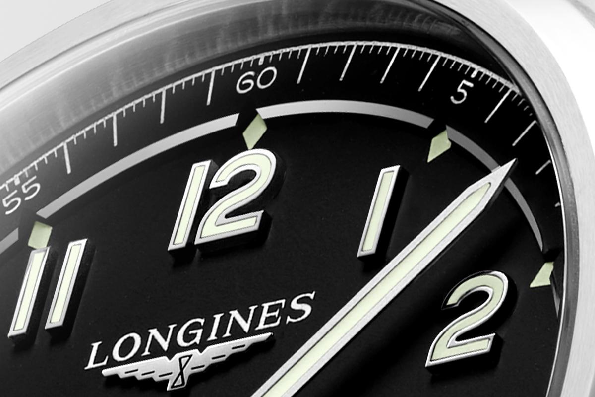Close up sul quadrante del Longines Spirit