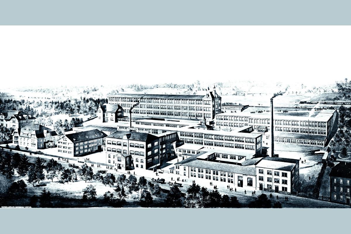 i primi stabilimenti industriali: l'esterno di Zenith nel 1908