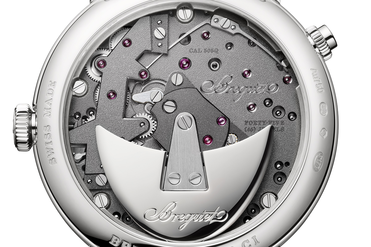 Il fondello del Breguet Tradition 7597