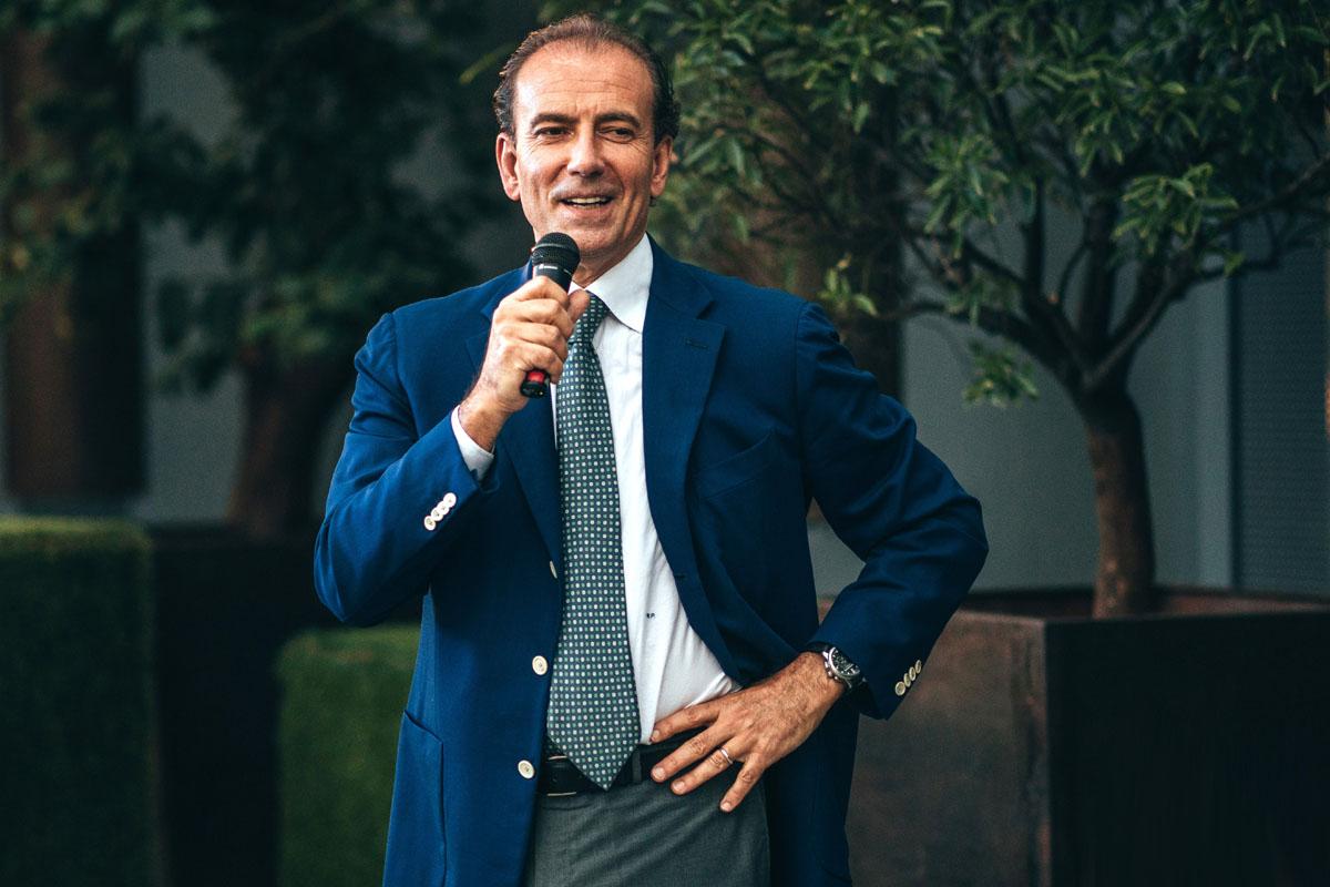 Un ritratto di Mario Peserico
