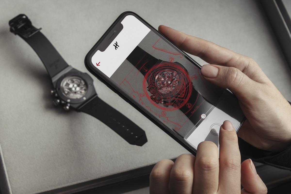 L'app Hublot e-warranty