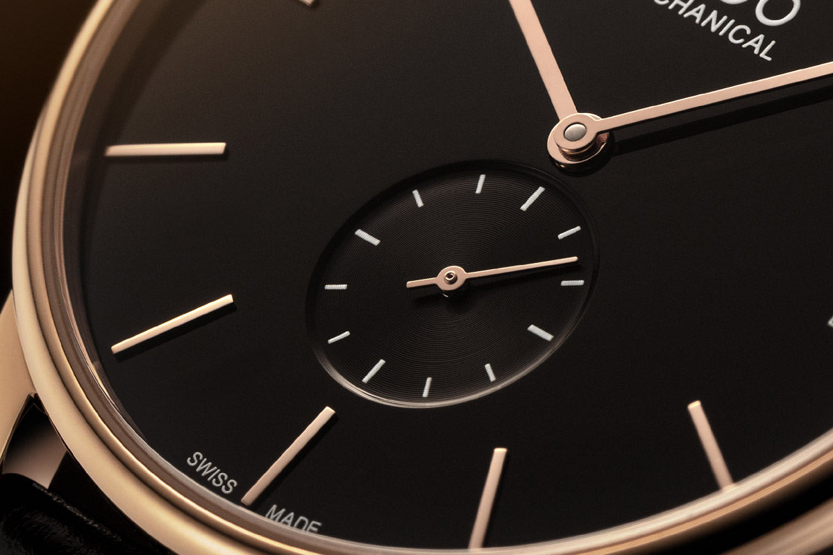 Close-up sul quadrante del Baroncelli Mechanical Limited Edition