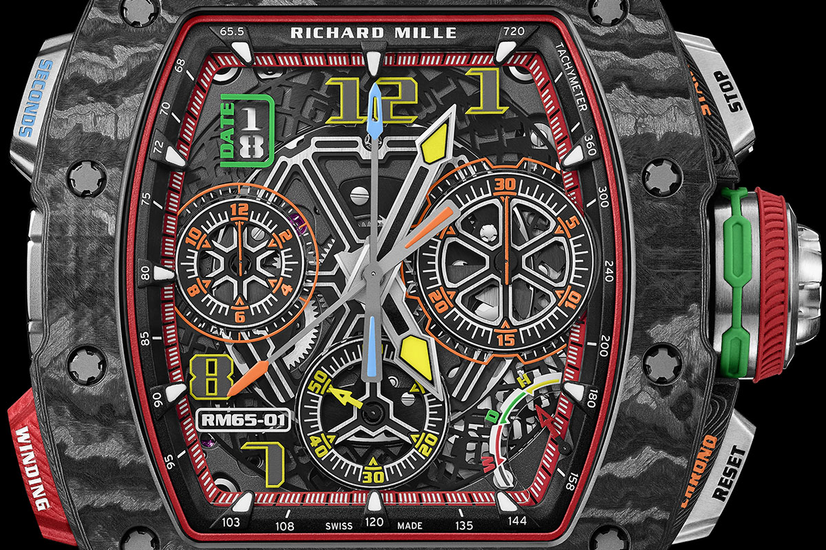 Il quadrante del Richard Mille RM 65-01