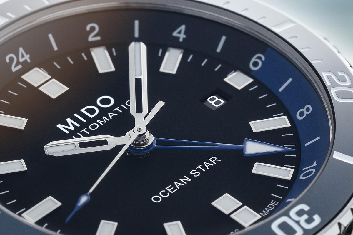 Il quadrante del Mido Ocean Star GMT