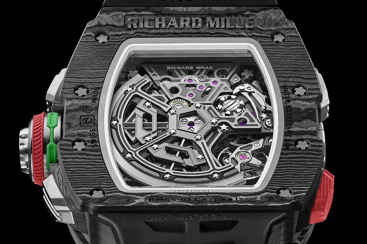 Il fondello del Richard Mille Rm 65-01
