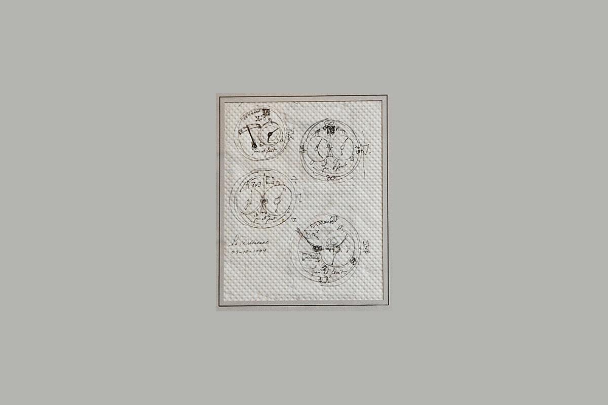 I primi schizzi della collezione Octa