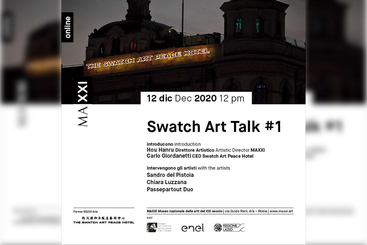Swatch e il Maxxi, locandina del talk di oggi