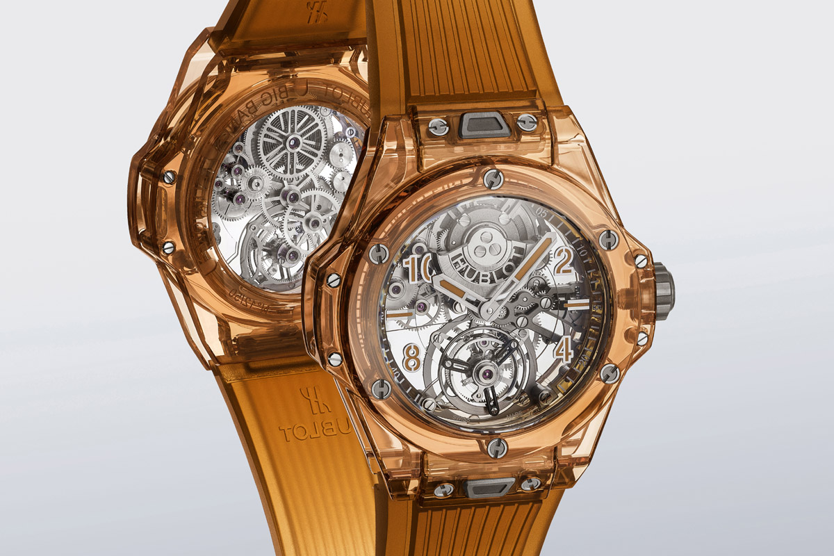L'Hublot Big Bang Tourbillon Automatic Orange Sapphire presentato alla LVMH Watch Week 2021