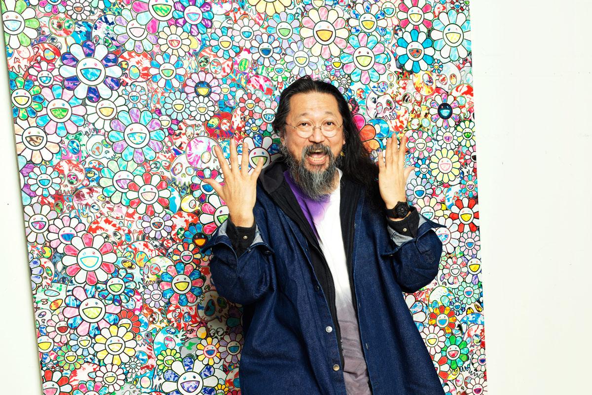 L'artista con al polso il Classic Fusion Takeshi Murakami All Black