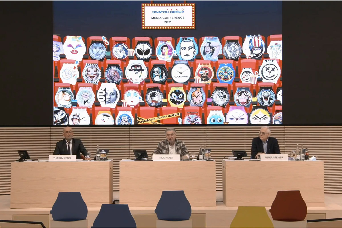 La conferenza stampa di Swatch Group di ieri