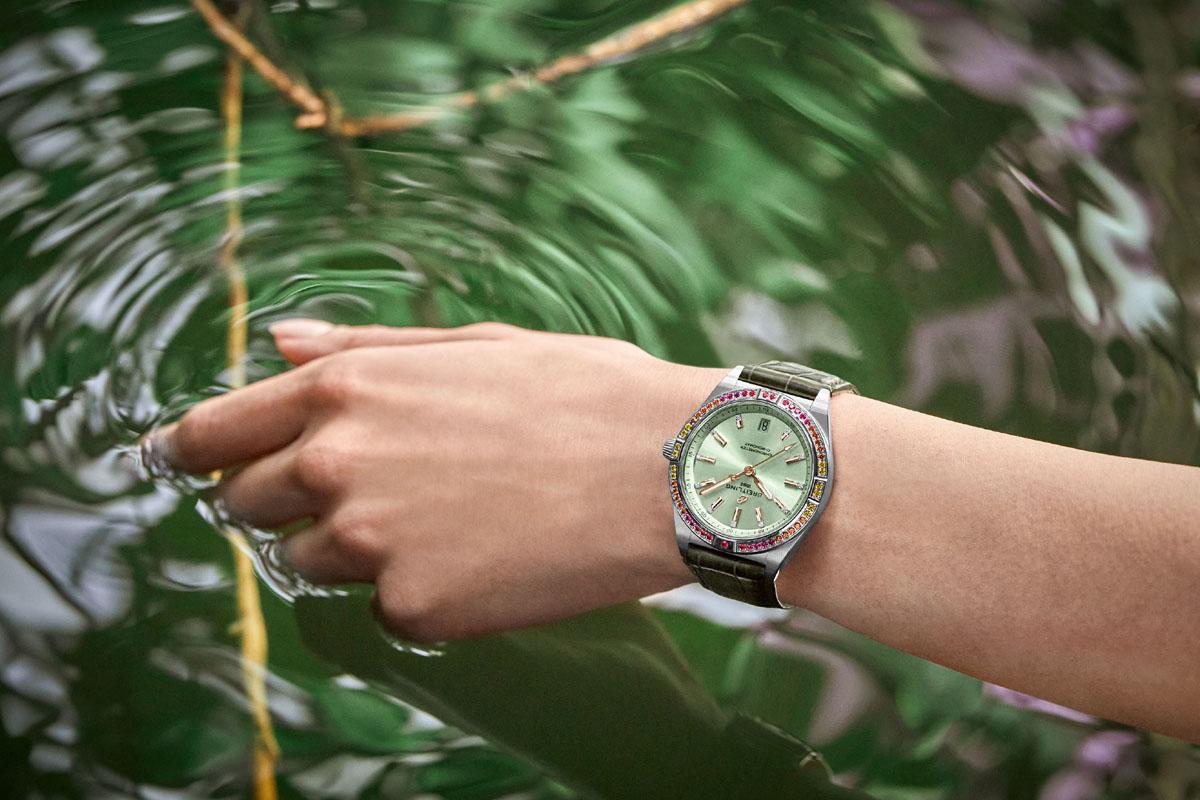 Chronomat South Sea verde