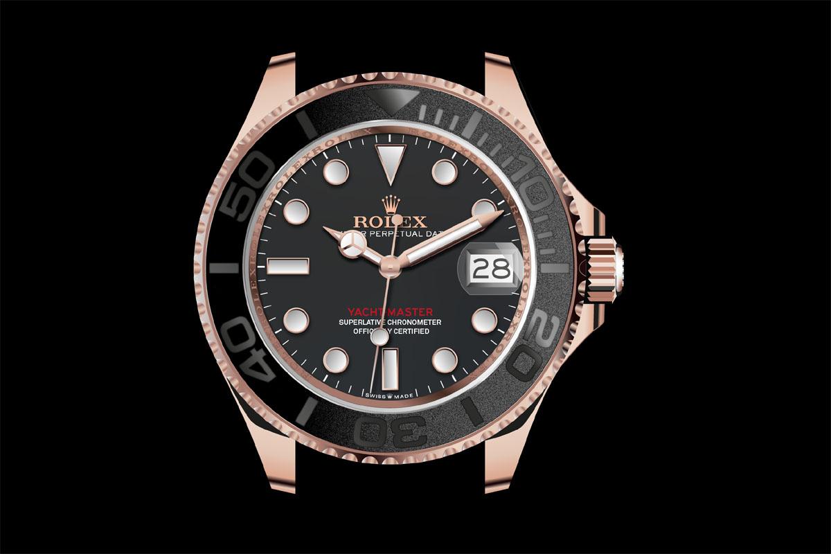Il Rolex Oyster Perpetual Yacht-Master 40 riprodotto da Bjoern Altmann