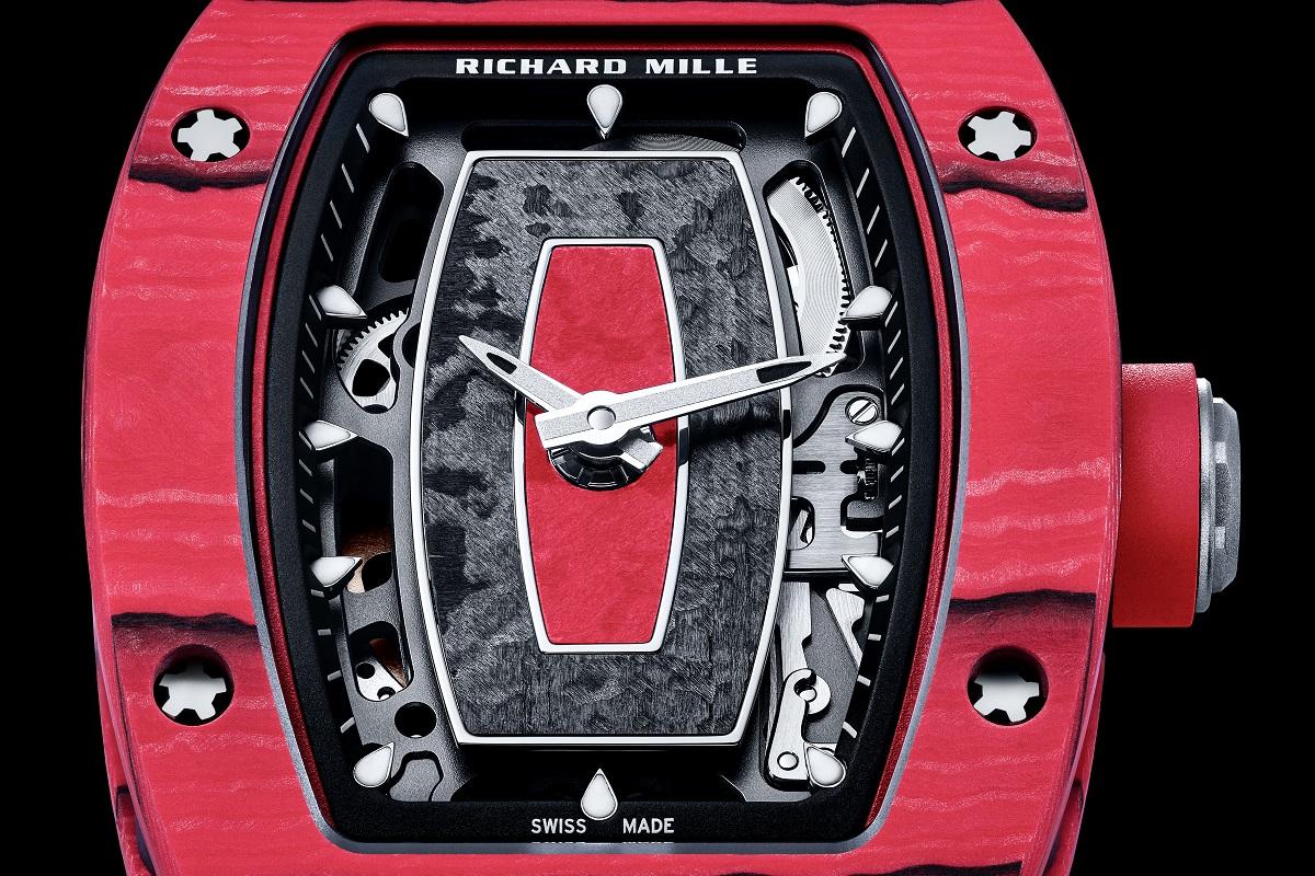 Il quadrante dell'RM 07-01 Racing Red