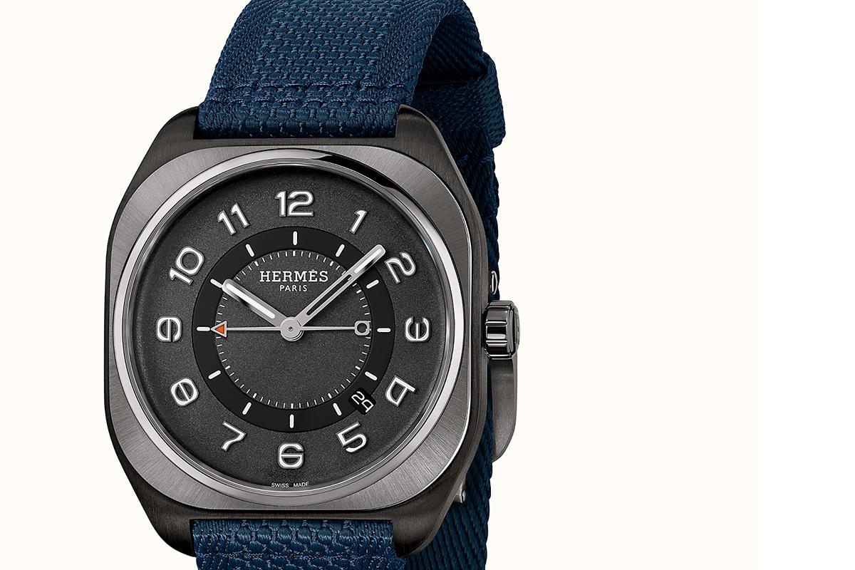 Hermès H08 con cassa in titanio Dlc nero