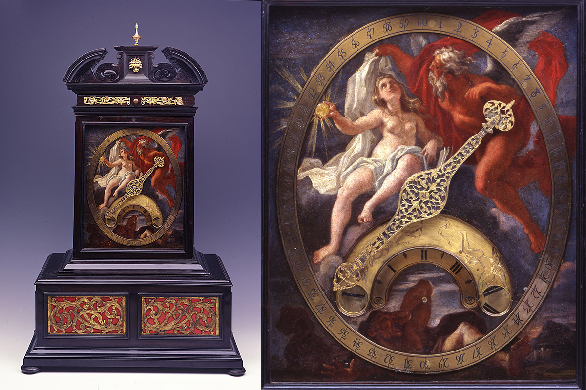 """L'orologio che rappresenta la mostra """"La forma del Tempo"""""""