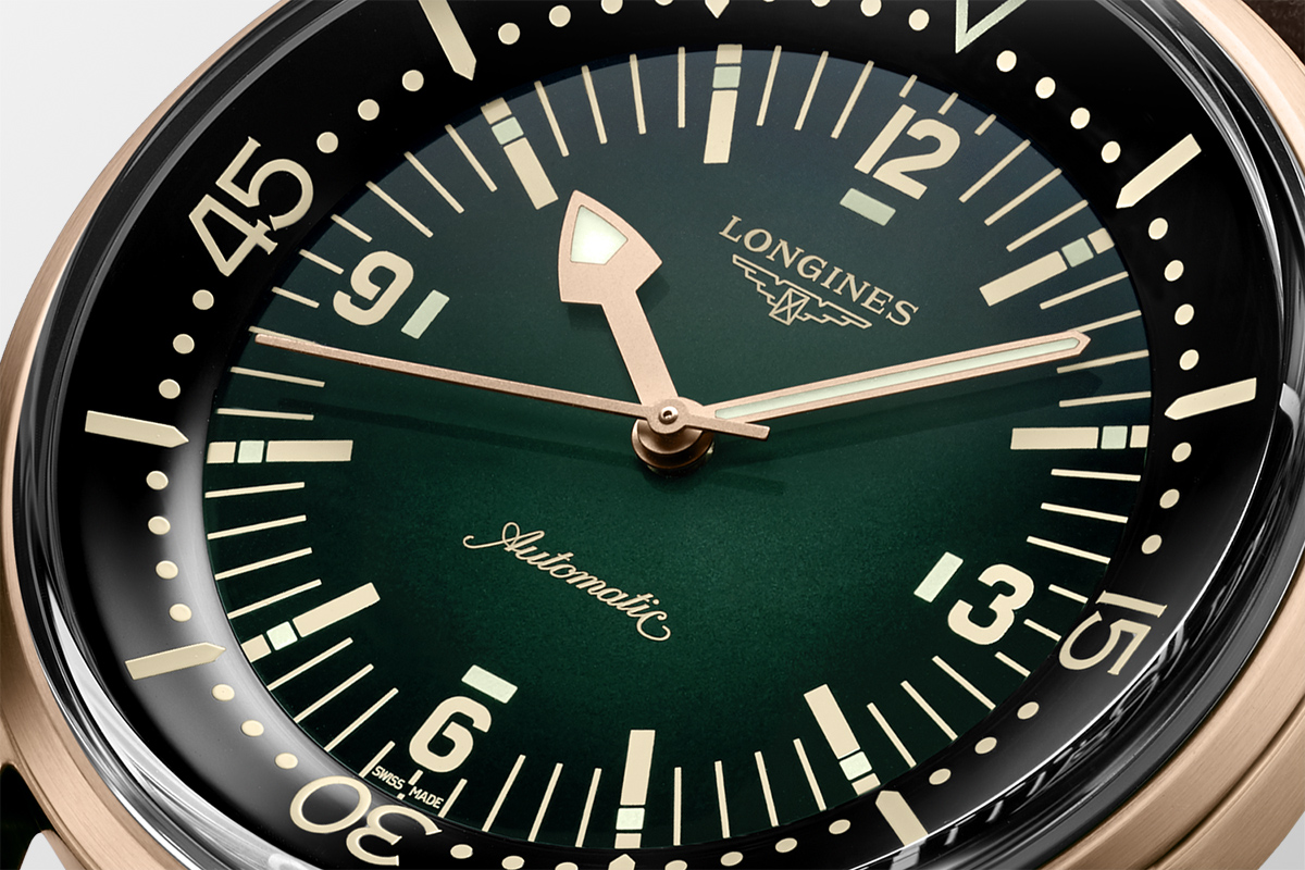 Il quadrante del Longines Legend Diver