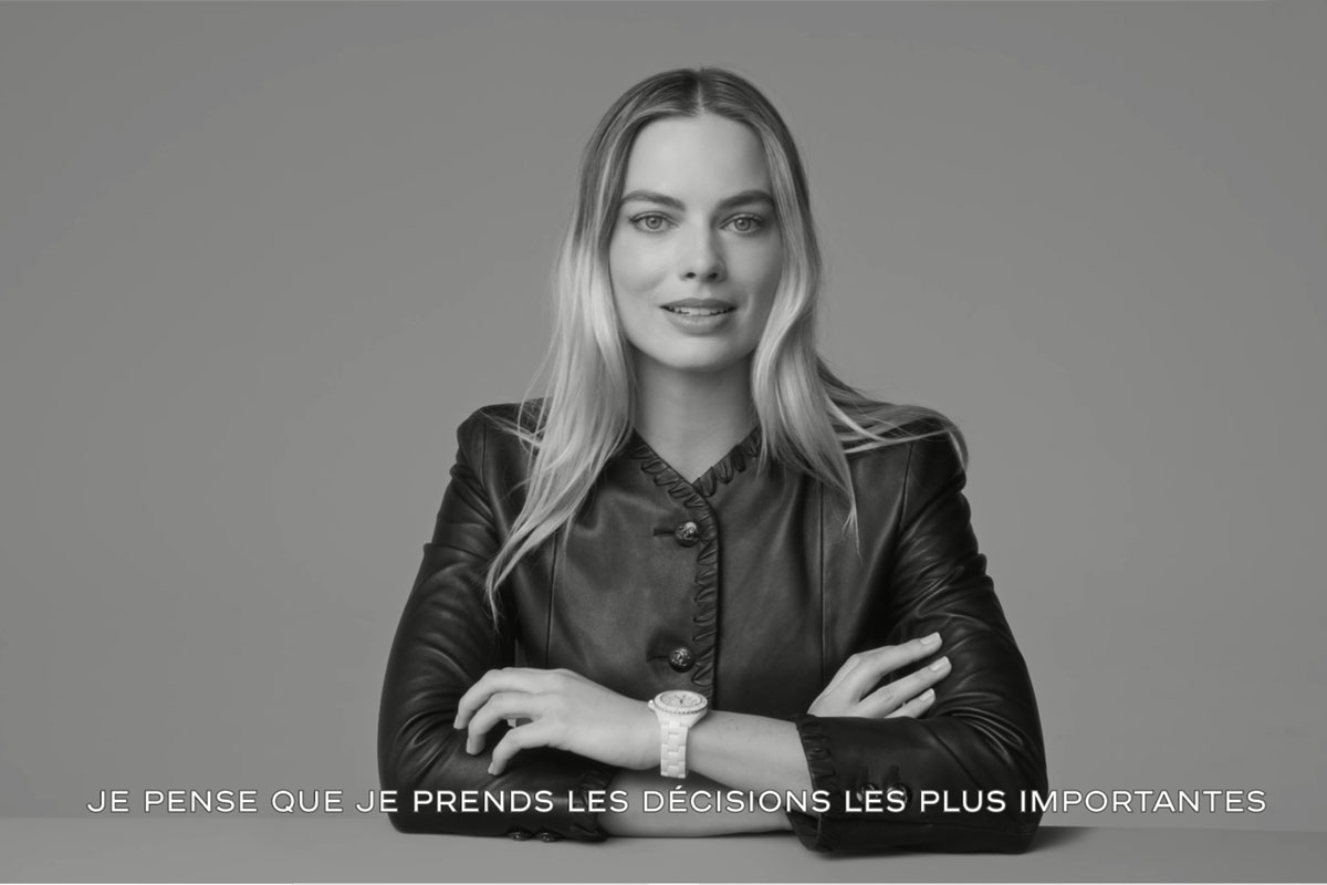 Margot Robbie nello spot di Chanel