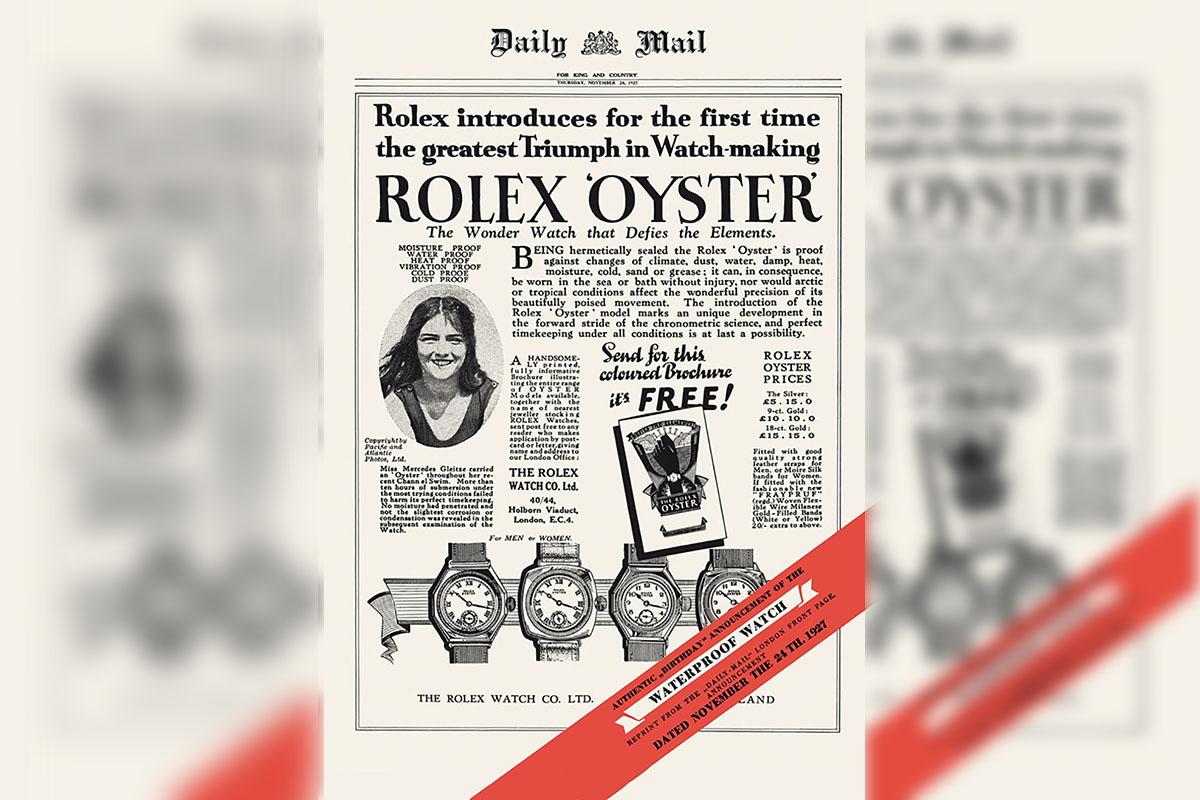 Il marketing nell'orolgeria nel 1927.