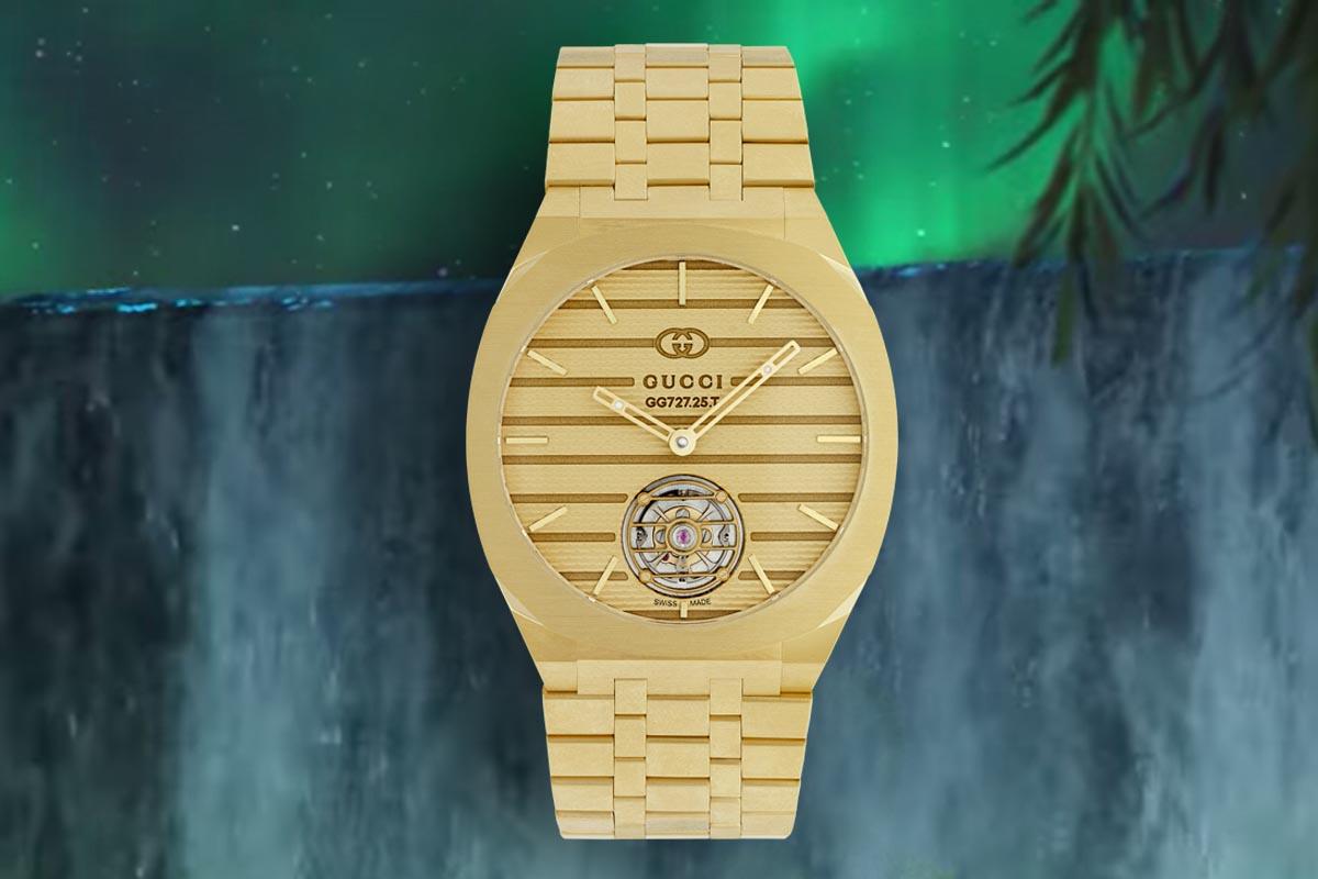 Il tourbillon, il primo degli orologi Gucci con complicazioni