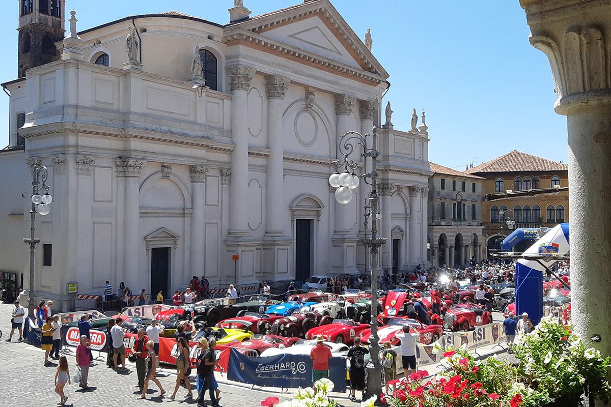 Le Barchette in sosta a La Leggenda di Bassano 2019