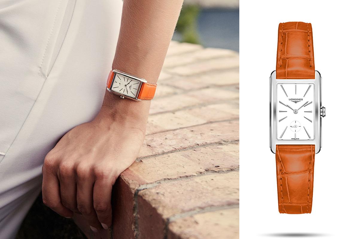 Longines DolceVita Capri con cinturino arancione