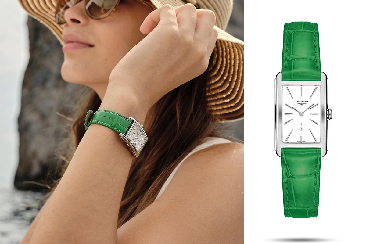Longines DolceVita Capri con cinturino verde