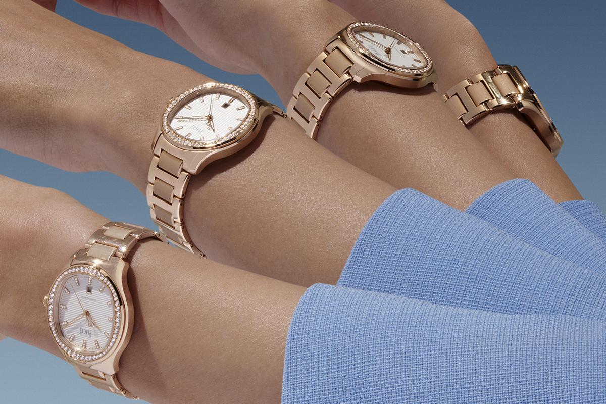 Piaget Polo Date 36mm in oro rosa con bracciale