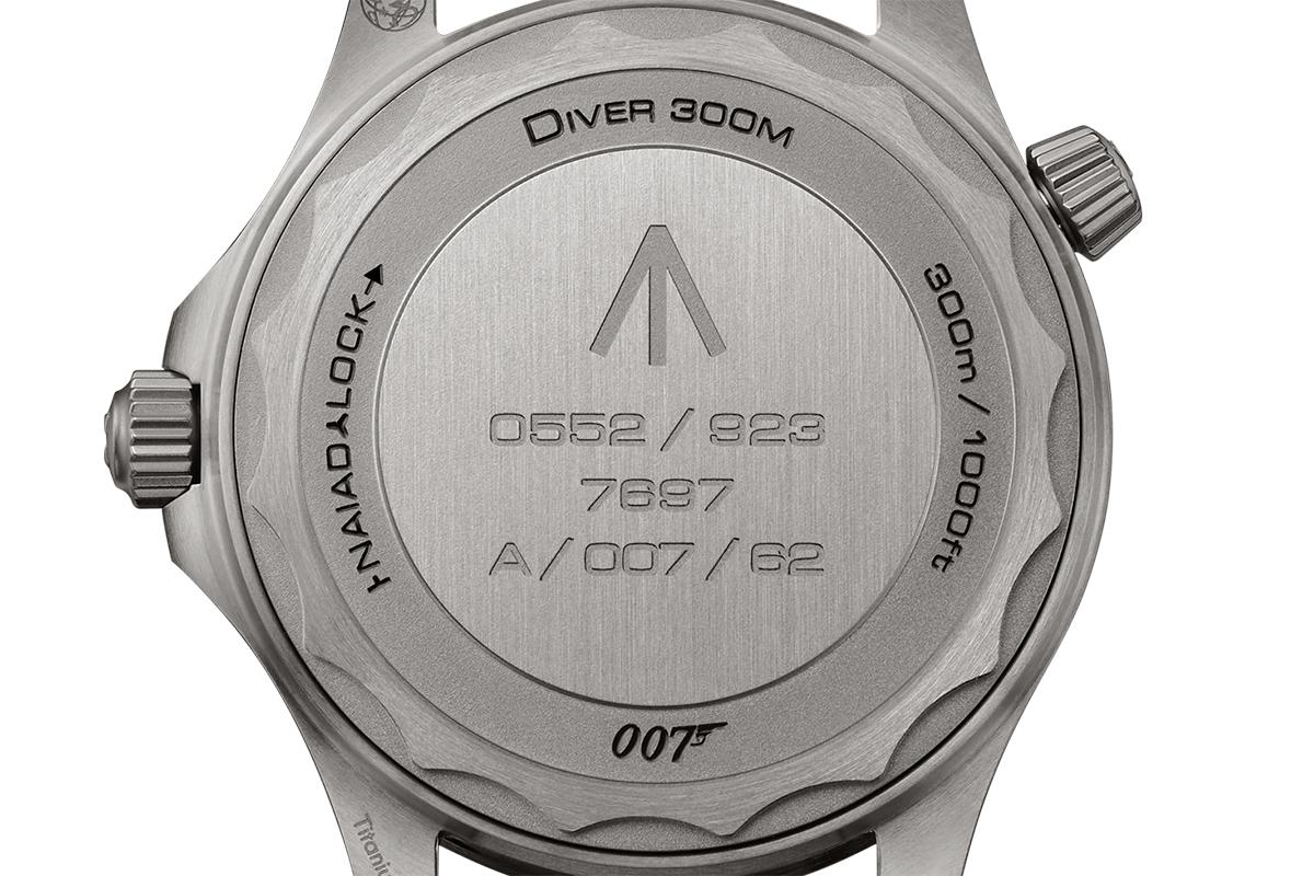 Il fondello dell'Omega Seamaster 007