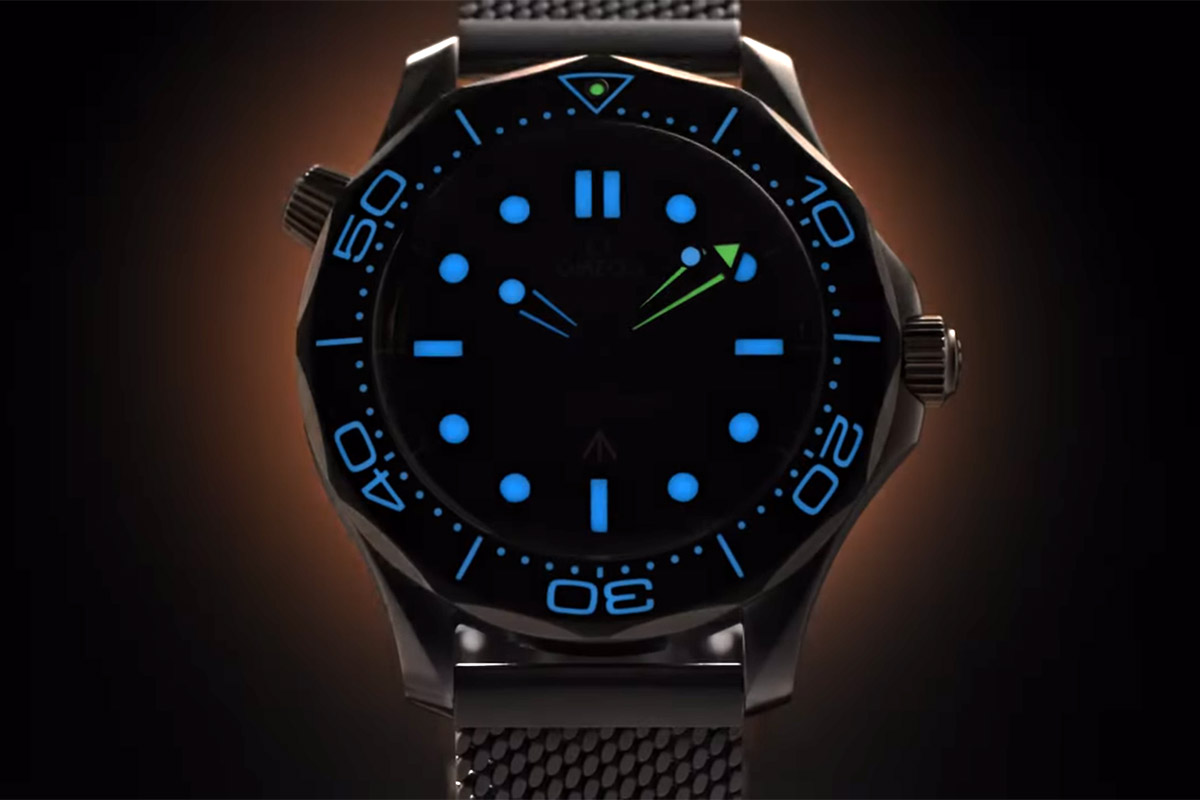 L'Omega Seamaster 007 al buio
