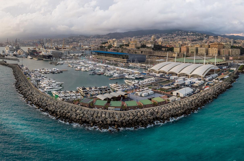 Vista d'insieme del Salone Nautico di Genova