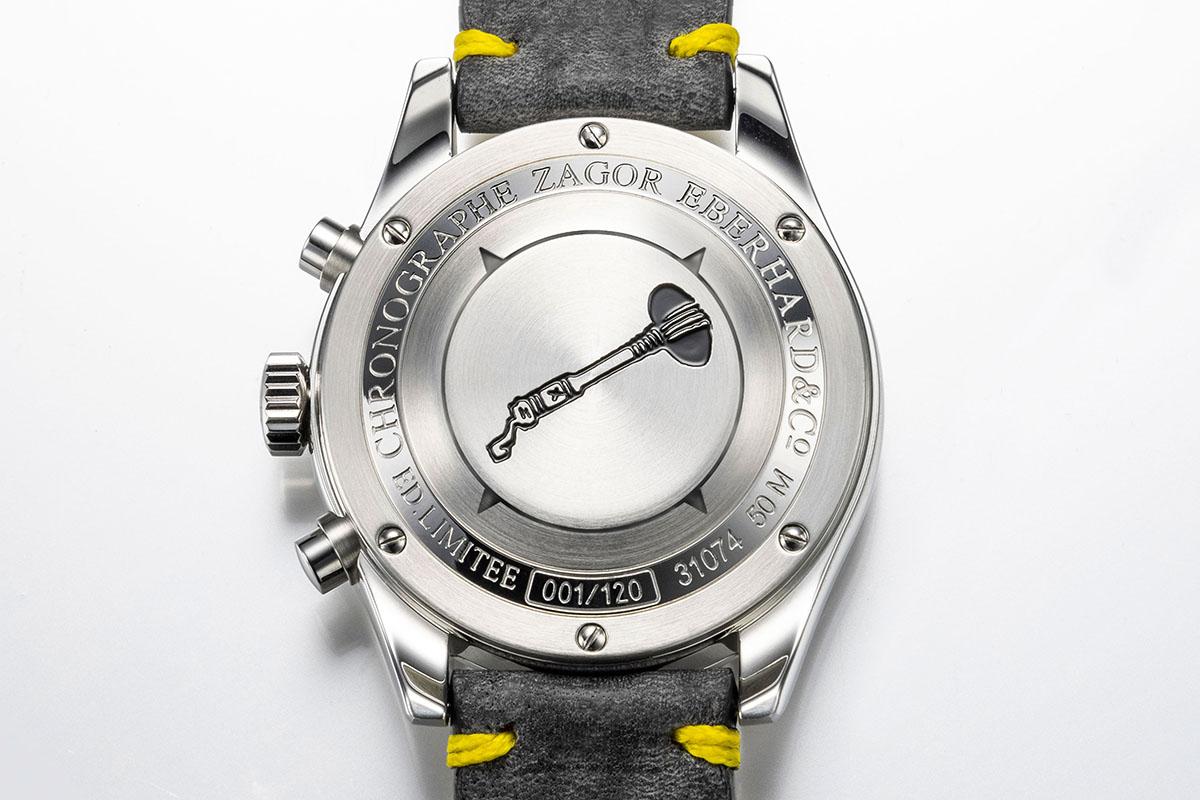 Il fondello del Cronografo Zagor