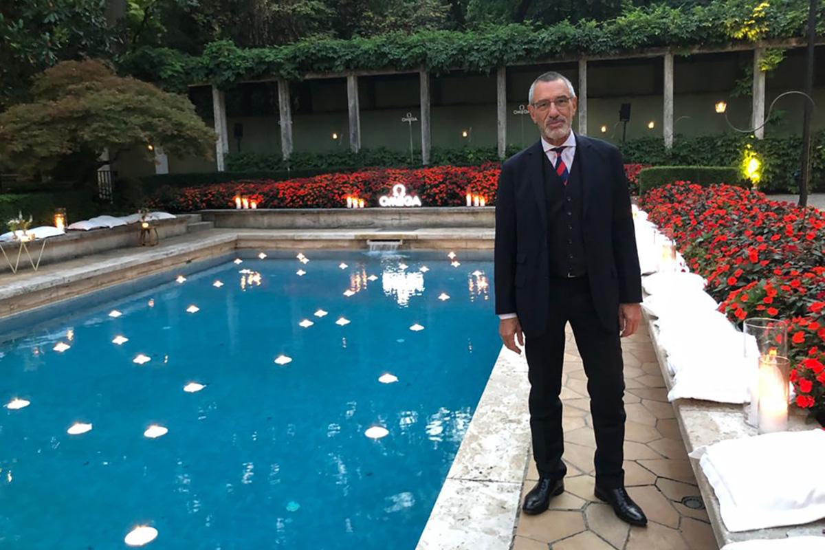 Paolo De Vecchi alla serata Omega